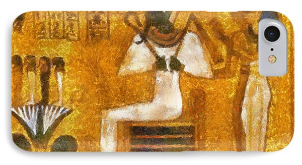IPhone Case featuring the painting Pharaoh  by Georgi Dimitrov