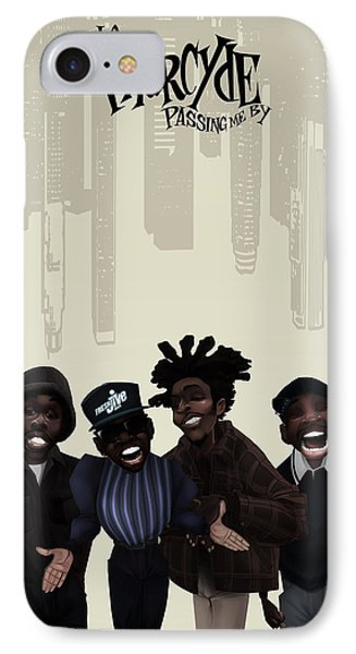 IPhone Case featuring the drawing Pharcyde -passing Me By 1 by Nelson dedos Garcia