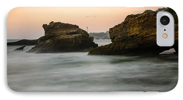 IPhone Case featuring the photograph Phare De Biarritz by Thierry Bouriat