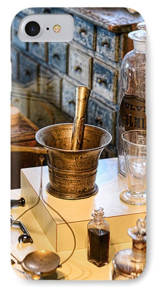 Pharmacist - Brass Mortar And Pestle IPhone Case by Paul Ward