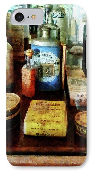 IPhone Case featuring the photograph Pharmacy - Cough Remedies And Tooth Powder by Susan Savad