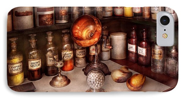Pharmacy - Items From The Specialist IPhone Case by Mike Savad