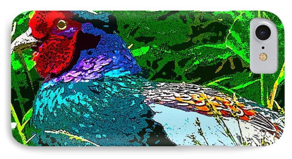 Pheasant Digiartwork IPhone Case by Tim Ernst