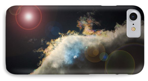 Phenomenon With Lens Flare IPhone Case by Debra Thompson