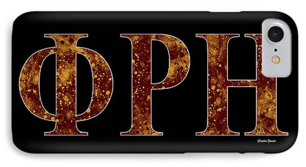 Phi Rho Eta - Black IPhone Case by Stephen Younts
