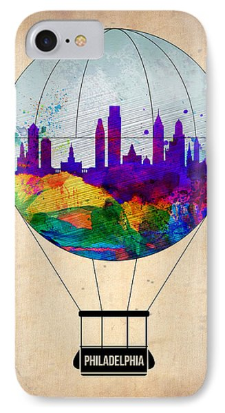 Philadelphia Air Balloon IPhone Case by Naxart Studio