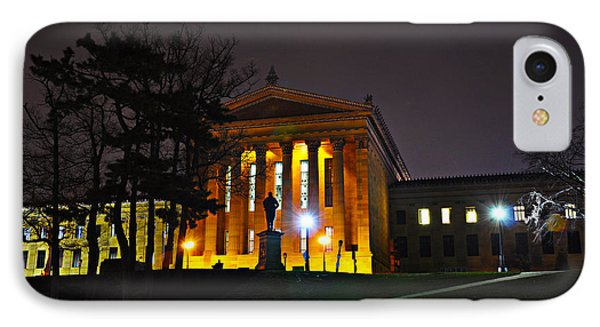 Philadelphia Art Museum  At Night From The Rear Phone Case by Bill Cannon