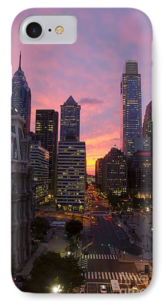 Philadelphia City Center At Sunset IPhone Case by Perry Van Munster