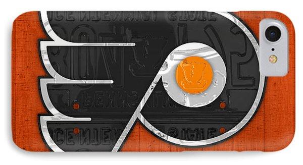 Philadelphia Flyers Hockey Team Retro Logo Vintage Recycled Pennsylvania License Plate Art IPhone Case