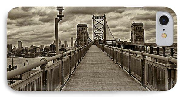 Philadelphia From Ben Franklin Bridge 1 IPhone Case