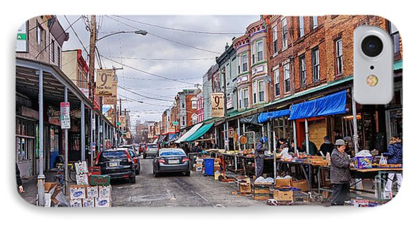 Philadelphia Italian Market 2 Phone Case by Jack Paolini