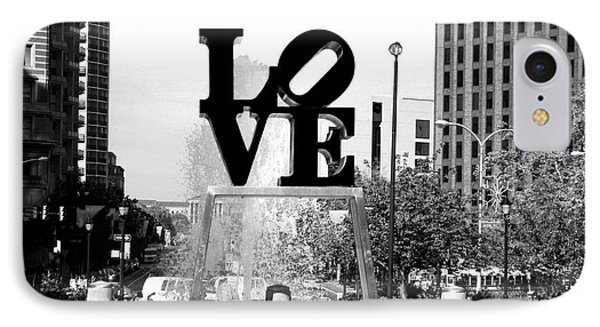 Philadelphia Love Bw Phone Case by John Rizzuto