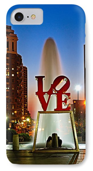 Philadelphia Love Park IPhone Case by Nick Zelinsky