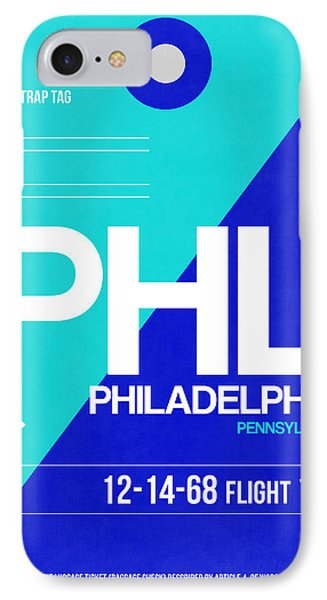 Philadelphia Luggage Poster 1 IPhone Case by Naxart Studio
