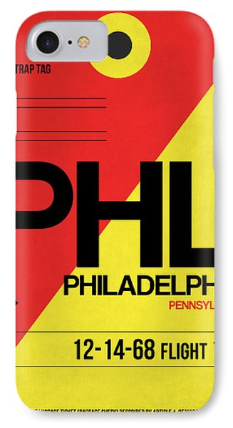 Philadelphia Luggage Poster 2 IPhone Case by Naxart Studio