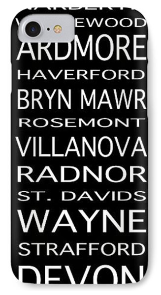 Philadelphia Main Line Train Scroll 2 IPhone Case by Lou Ford