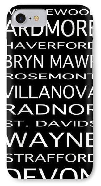 Philadelphia Main Line Train Scroll IPhone Case by Lou Ford