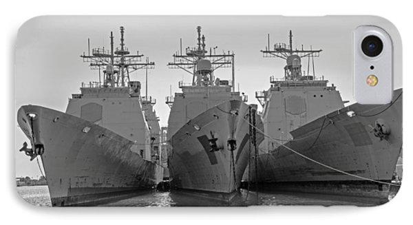 Philadelphia Navy Yard B - W  IPhone Case by Susan  McMenamin