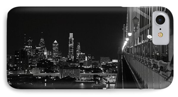 Philadelphia Night B/w IPhone Case by Jennifer Ancker