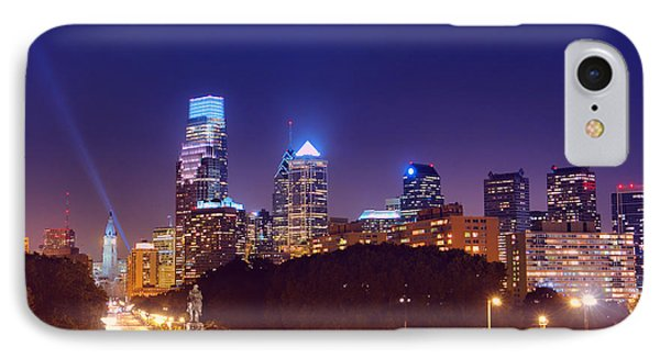 Philadelphia Nightscape Phone Case by Olivier Le Queinec