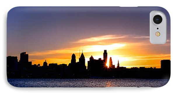 Philadelphia Panoramic Sunset IPhone Case by Olivier Le Queinec
