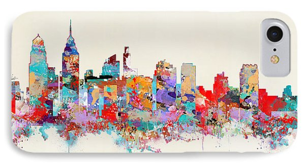 Philadelphia Skyline IPhone Case by Bri B