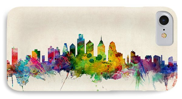 Philadelphia Skyline IPhone Case by Michael Tompsett