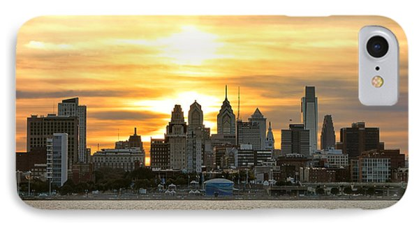 Philadelphia Sunset Phone Case by Olivier Le Queinec
