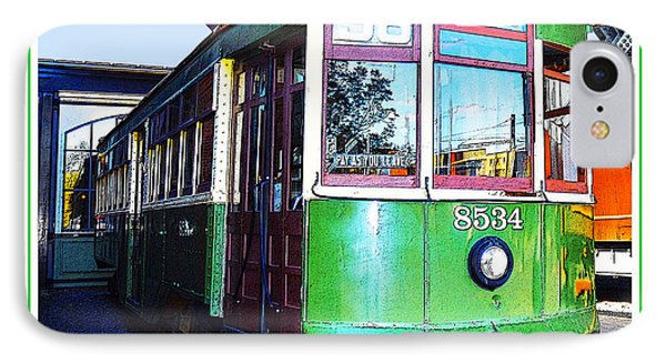 IPhone Case featuring the photograph Philadelphia Trolley Car C1926 by A Gurmankin