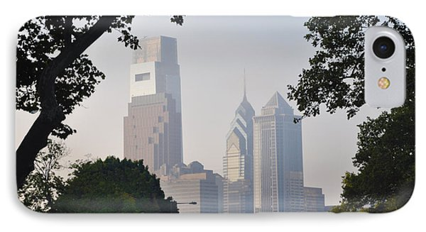 Philadelphia's Skyscrapers Phone Case by Bill Cannon