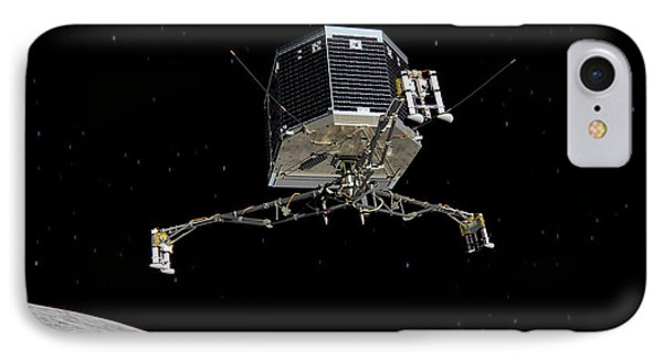 IPhone Case featuring the photograph Philae Lander Descending To Comet 67pc-g by Science Source