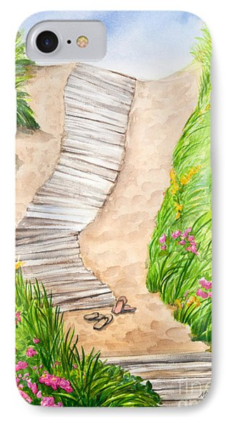 Philbin Beach Path Phone Case by Michelle Wiarda