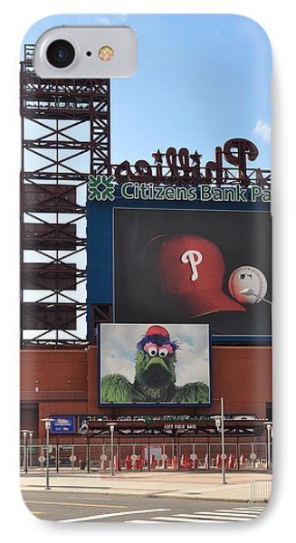 Phillies Citizens Bank Park - Baseball Stadium IPhone Case by Bill Cannon