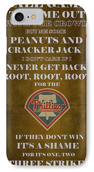 Phillies Peanuts And Cracker Jack  Phone Case by Movie Poster Prints