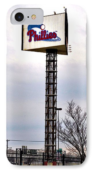 Phillies Stadium Sign IPhone Case by Bill Cannon