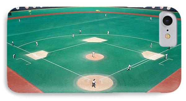Phillies Vs Mets Baseball Game IPhone Case by Panoramic Images