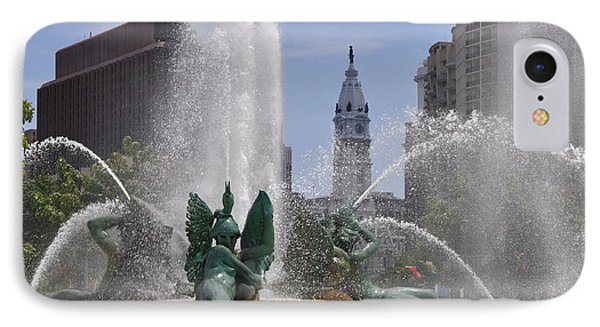 Philly Fountain Phone Case by Bill Cannon