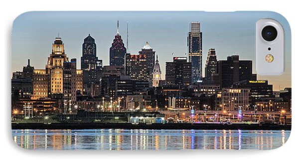 Philly Sunset IPhone Case by Jennifer Ancker