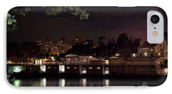 Philly Waterworks At Night Phone Case by Bill Cannon