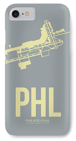 Phl Philadelphia Airport Poster 1 IPhone Case by Naxart Studio
