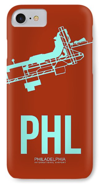 Phl Philadelphia Airport Poster 2 IPhone Case by Naxart Studio