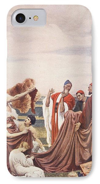Phoenicians Trading With Early Britons IPhone Case by Frederic Leighton