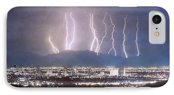 Phoenix Arizona City Lightning And Lights IPhone Case by James BO  Insogna