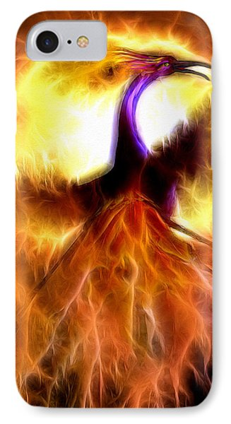 IPhone Case featuring the mixed media Phoenix Bird by Daniel Janda