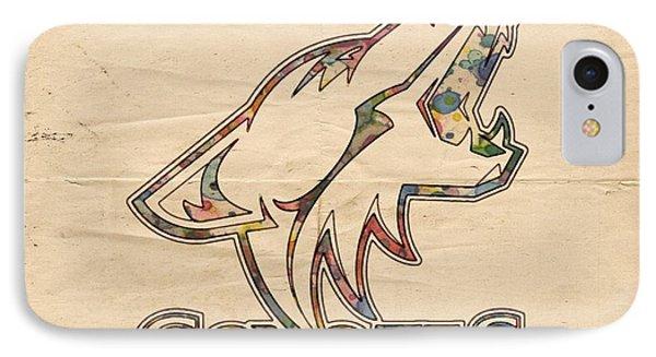 Phoenix Coyotes Logo Art IPhone Case