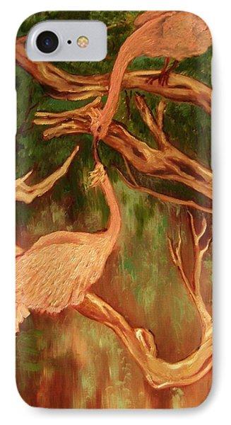 IPhone Case featuring the painting Phoenix-dares To Love Again by Beth Arroyo