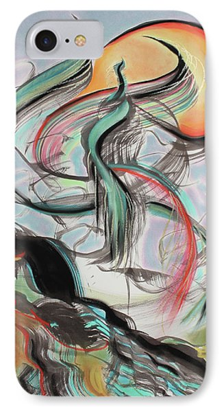 IPhone Case featuring the painting Phoenix Rising by Asha Carolyn Young
