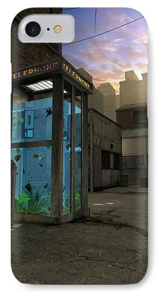 Phone Booth IPhone Case by Cynthia Decker