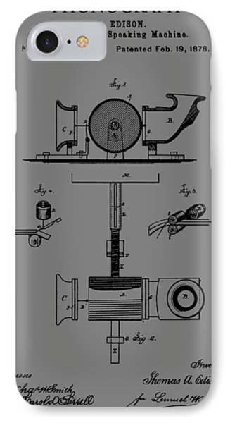 Phonograph Patent IPhone Case