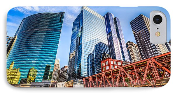 Photo Of Chicago Buildings At Lake Street Bridge IPhone Case by Paul Velgos